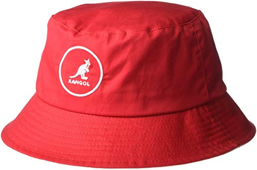 57dd01676722 Kangol Unisex Cotton Bucket Fischerhut, Rot Rojo, Medium