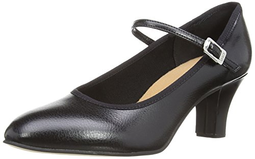 Kickline 2.5 Heel, Damen Jazz & Modern, Schwarz (Black), 6 UK