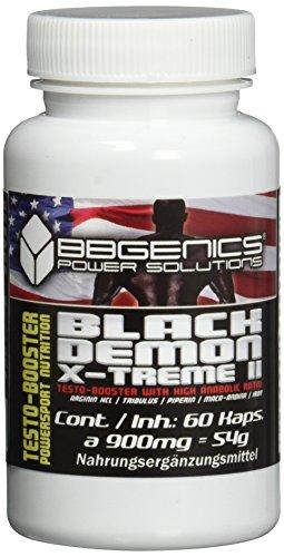 BBGenics, BlackDemon X-Treme II, T-Booster, Qualitäts- Maca, Arginin, Tribulus, Zink, Eisen, Chrom, Vitamin B2, B6, C, 60 Caps.