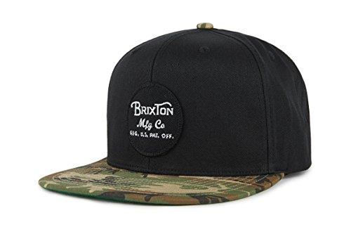 Brixton Wheeler Snapback Headwear, Schwarz/Tarnfarbe, One Size