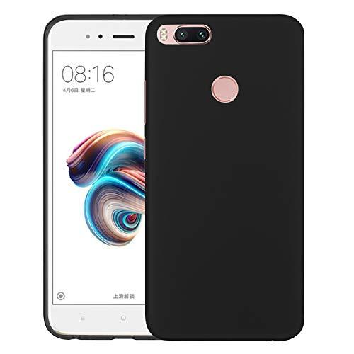 TBOC Funda de Gel TPU Negra para Xiaomi Mi A1 [5.5 Pulgadas] Carcasa de Silicona Ultrafina y Flexible para Teléfono Móvil