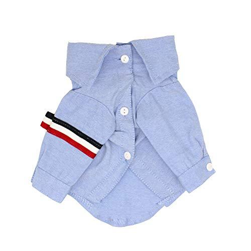 Hundebekleidung Hundebekleidung Junge Hundekleidung Mädchen Hunde Pullover Hundehemd Blue Shirt Streifen Für Große Mittlere Kleine Haustiere FENGMING (Farbe : Blau, größe : S) - Blaue Streifen-blues Shirt