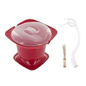 cuisy kc2150 fondue micro onde plastique rouge violet vert fluo 17 x 17 x 15 cm coloris. Black Bedroom Furniture Sets. Home Design Ideas