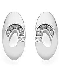 Jorge Revilla Plata 12pts Diamante Pendientes - Line Colleción
