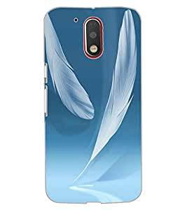 ColourCraft Feathers Design Back Case Cover for MOTOROLA MOTO G4 PLUS