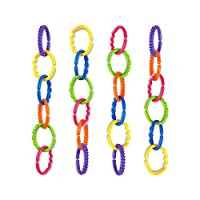 TALINU Colourful pram Chain/Baby Play Chain/pram Chain/Stroller Toy 24 Pieces
