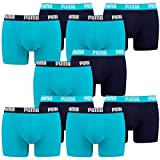 Puma 10 er Pack Boxer Boxershorts Men Herren Unterhose Pant Unterwäsche, Bekleidungsgröße:XXL, Farbe:796   Aqua/Blue