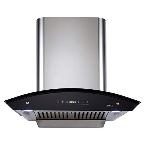 Elica 60 cm 1200 m3/hr Auto Clean Chimney with Free Installation Kit (WD HAC TOUCH BF 60 SS, 2 Baffle...