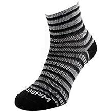 Wrightsock Coolmesh II Quarter Socke Black White Grey