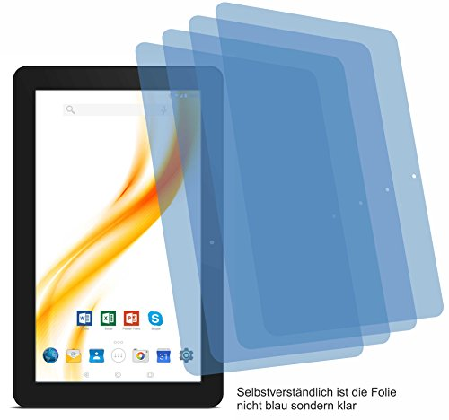 4x Crystal clear klar Schutzfolie für Odys Maven 10 Pro Displayschutzfolie Bildschirmschutzfolie Schutzhülle Displayschutz Displayfolie Folie
