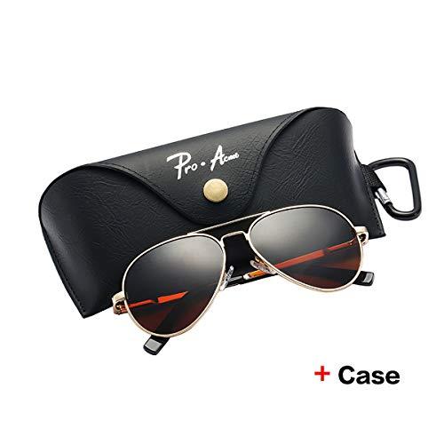 Yangjing-hl Brand Small Polarized Sonnenbrillen für Kinder und Jugendliche Erwachsene Small Face Damen Herren Junioren Pilot Sun Glasse 52mm PA1053