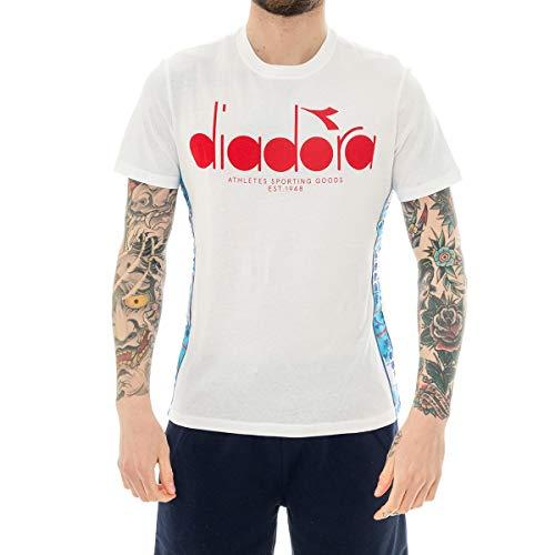 Diadora T-Shirt Uomo 5PALLE Offside 502.175279.C0169 (L - C0169 White-RED) -