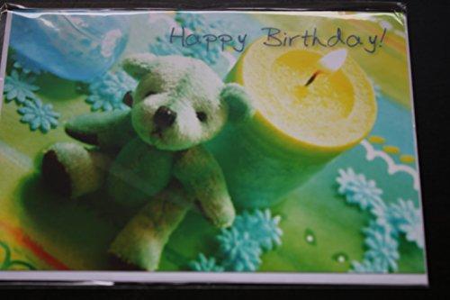 Glückwunschkarte Geschenkskarte Geburtstagskarte Happy Birthday! Karte mit Umschlag weiß