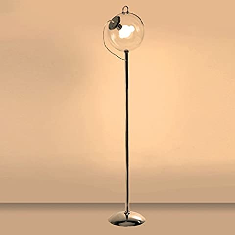 AMOS Lampe de plancher en verre moderne lampe de plancher salon de chambre lumière