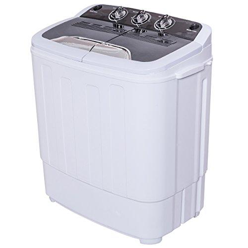 Mini Single Waschmaschine mit 2KG Schleuder Toplader Waschautomat 3,6KG A+ (Kompakt Waschmaschine Trockner)
