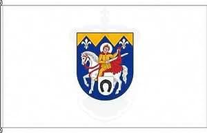 Königsbanner Tischfähnchen Sankt Martin - Tischflaggenständer aus Chrom