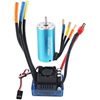 Crazepony-UK 3274 2250KV 4P Sensorless Brushless Motor with 120A Brushless ESC ( Electric Speed Controller ) for 1/8 RC Car Truck ( Blue )