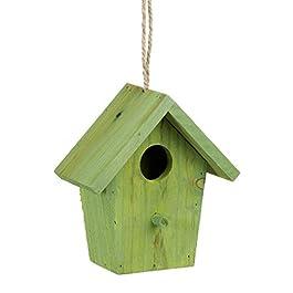 Reladays Casa per uccelli colorata legno piccola casetta decorazione primaverile da appendere diverse misure e colori