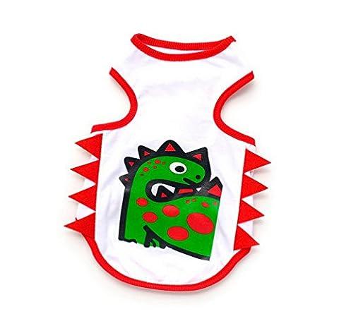 Maman Fils Halloween - Selmai Coton Imprimé chien Gilet T-shirt Couleur