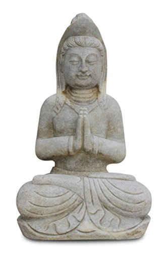 Bouddha figure de vie de l'Asie de la Pierre de Marbre blanc, Statue de Guanyin
