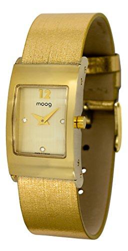 Moog Paris Dome Women's Watch with Gold Dial, Gold Jeans Strap & Swarovski Elements - M41661-403