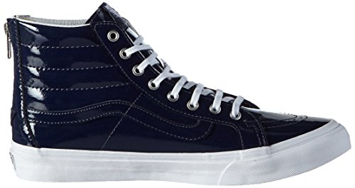 Vans Unisex-Erwachsene Sk8-Hi Slim Zip Sneaker Blau (tumble Patent/peacoat)