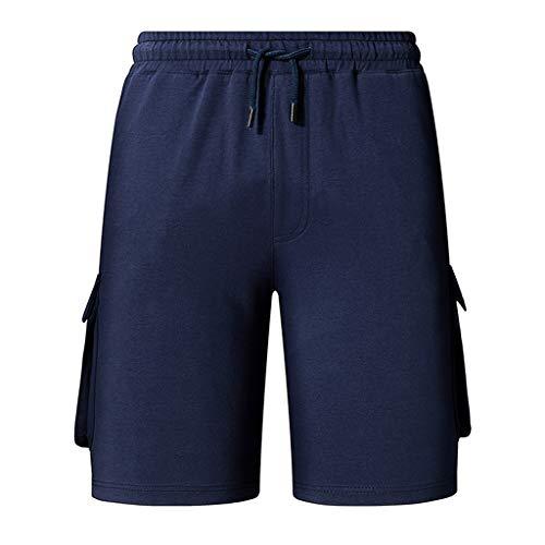 Herren Shorts Sport Mode Arbeitshose Casual Einfarbig Haushosen Sweathose Cargo Pants Regular Slim Hosen Kurze Arbeitshose ABsoar