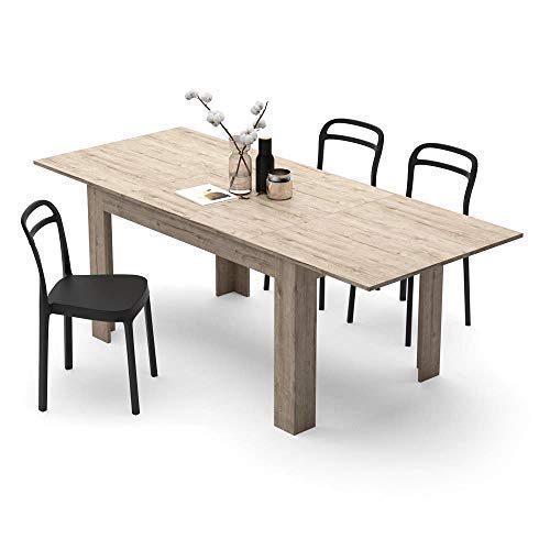 Mobili Fiver, Extendable Dining Table, Easy, Black Ash, Laminate-finished, Made in Italy