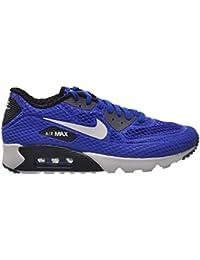 separation shoes 33ad5 bd548 Nike Air Max 90 Ultra-BR Plus QS Laufschuhe Blau Weiß-Grau-