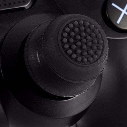 2x Analog erhöhte Antislip Daumen Stick Griff Thumbsticks Joystick Cap Abdeckung für PS4PS3Xbox 360& Xbox One Controller Schwarz Schwarz (Analog-stick Griffe)