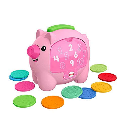 Fisher-Price GJC68 Laugh & Learn Count & Rumble - Hucha de Cerdito, Juguete Musical para bebé