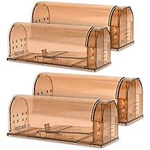 Navaris 4X Trampa para Ratas - Set de 4 trampas para Ratones y Otros Animales pequeños