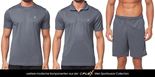CFLEX Men Sportswear Collection - Herren Funktion Sport Kleidung - Fitness Quickdry Muscle-Shirt & Hemd Fitness Sport Top - Größen S-XXL - Qualität von Celodoro Grau