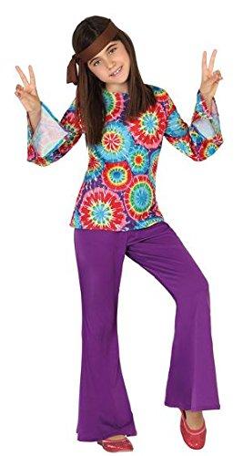 Imagen de atosa  disfraz hippie para niña, talla xl, 10 12 años 111 28460