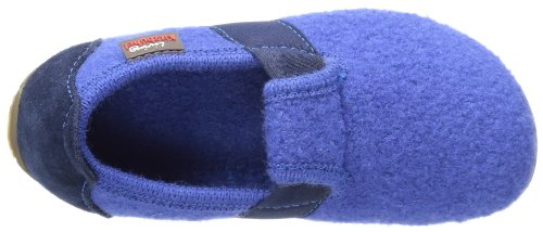 Living Kitzbühel T-Modell Unifarben, Chaussons mixte enfant Bleu (558 Victoria Blue)