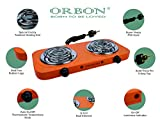 ORBON® Double 1000 W + 1000 W with Thermostat G-Coil Electric Cooking Stove with ON-Off Indicator (Tangy Orange)