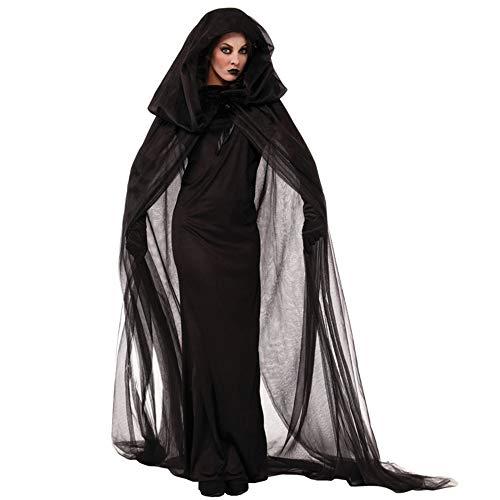 GIFT ZHIZHUXIA Frauen schwarz Mesh Hexe langes Kleid Kostüm für Bar, Party, Maskerade, Bühnenperformance Erwachsene Weihnachtsfeier Kleid Requisiten (Farbe : Photo Color, größe : ()