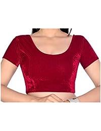 9c81e71b7d1b9 Aaradhya Enterprises Velvet Women s Readymade Saree Blouse