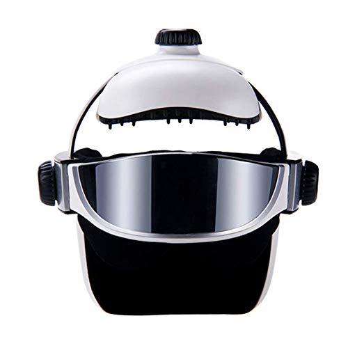 Preisvergleich Produktbild L&Z Elektrische Kopfmassagegerät 2-In-1 Elektro-Helm Massager Drahtloser Kopf Massager Wiederaufladbarer Eye Massager Mit Heizung Luftkompression Für Stress Linderung Und Tiefschlaf