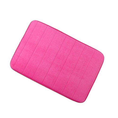 uxcell Badezimmer Mats Rutschfest saugfähigem Memory-Schaum Teppiche Teppich Hot Pink 61x 40,6cm (Badezimmer-teppiche-memory-schaum)