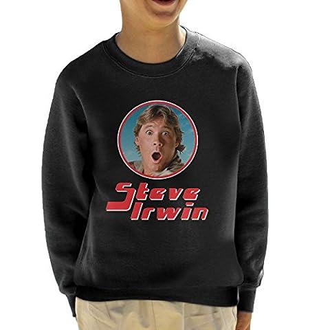 Steve Irwin Crocodile Hunter Retro Photo Frame Kid's Sweatshirt
