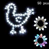 FTVOGUE 50pcs Impermeabile luci Decorazione a LED per Lanterna di Carta Ballon Festa di Nozze Arredamento per Esterni a casa(06)
