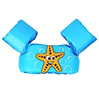 M&J Life Jacket Swim Floaties Kids Swimming Pool Toys Float Vest for Baby/Infant/Toddler 30-50lbs Kids Outdoor Recreation