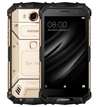 Preisvergleich Produktbild DOOGEE S60 lite - 5, 2 Zoll FHD Wasserdicht / Stoßfest / Staubdicht 4G Smartphone,  5580mAh Akku Schnelle Ladung (drahtlose Ladung unterstützt),  1, 5 GHz Octa Core 4 GB + 32 GB,  8MP + 16MP,  NFC GPS Metallrahmen - GOLD