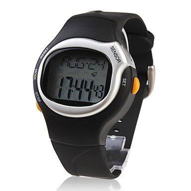 Lpan Men & # 039; S montre Sports moniteur de fréquence cardiaque Compteur de calories Bracelet en silicone montre bracelet Cool montre Unique montre Mode montre, One Size