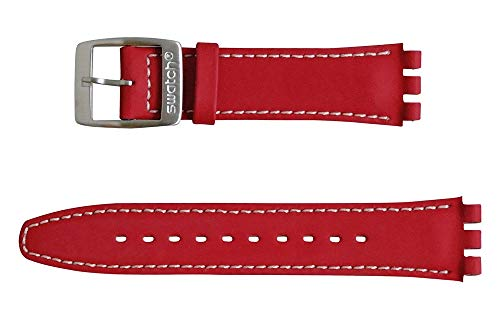 Cinturino Swatch Buckle pelle, rosso