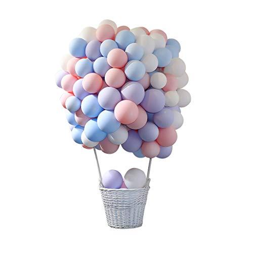 Amycute 100 Stücke Latex Luftballons, Farbige Ballons, Partyballon, Bunte Dekorative Ballons,Geburtstag Luftballons Hochzeitballons für Hochzeit Geburtstag Party Engagement Baby Dusche Dekorative. (Engagement Party Ballons)