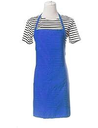 Koly Delantal de Cocina, Impermeable cocinar babero Con bolsillo (Azul)