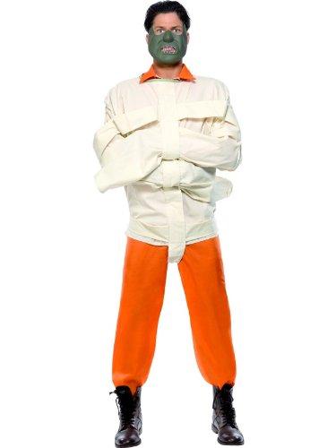 �mmer Lizenzkostüm Hannibal Lecter Kostüm weiss-orange L (Das Schweigen Der Lämmer Kostüm Maske)