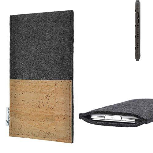 flat.design vegane Handy Hülle Evora für Cyrus CS 35 Kartenfach Kork Schutz Tasche handgemacht fair vegan